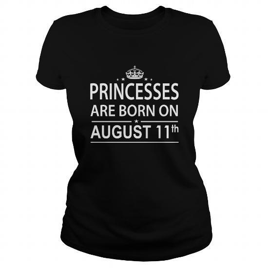 Cool 0811 August 11 Birthday princess born Shirts T Shirt Hoodie Shirt VNeck Shirt Sweat Shirt Youth Tee for Girl and Men and Family T-Shirts