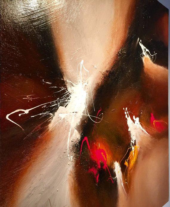Gran pintura abstracta por Dan Bunea: por nuestros padres