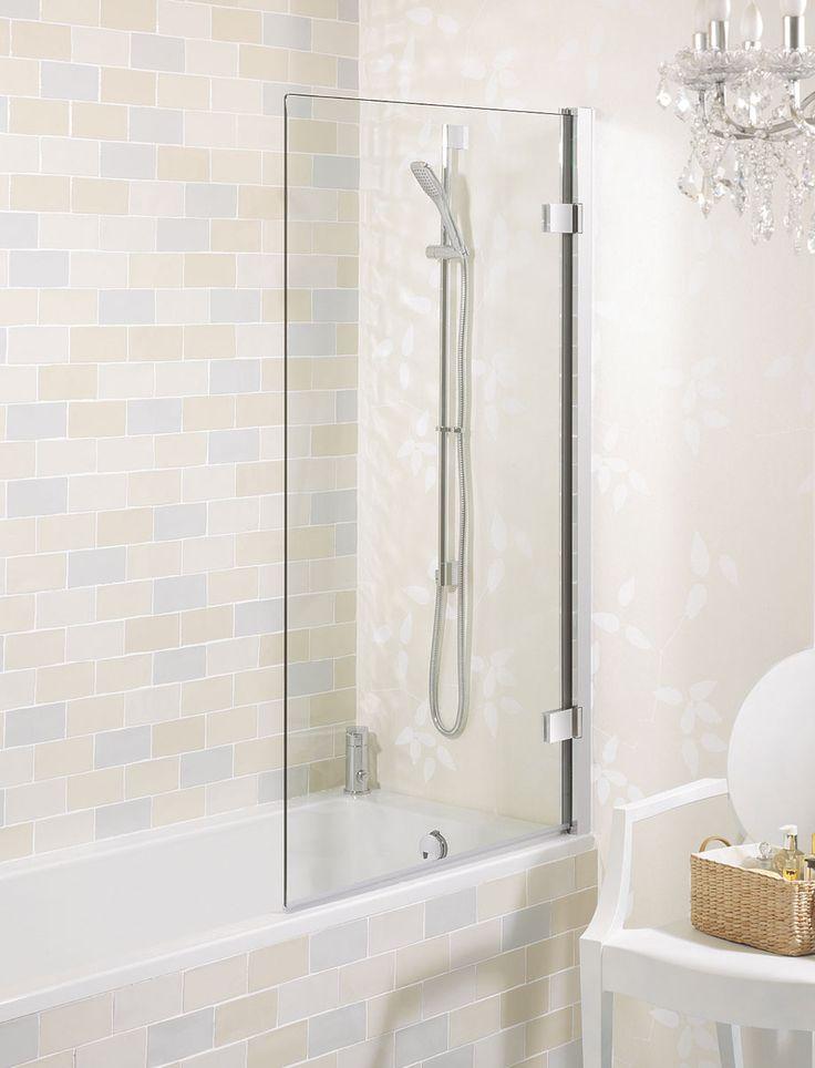 Elite Hinged Bath Screen in Frameless