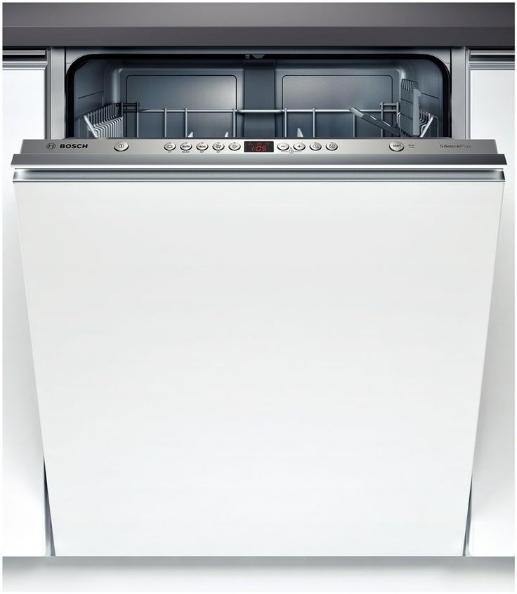 Bosch Fully Integrated Dishwasher with aluminium grip handle for handleless look to top of panel