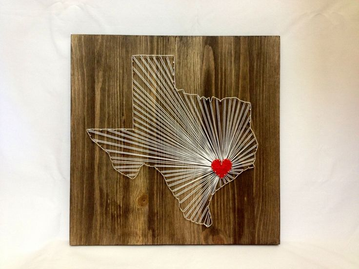 Texas Any State String Art Decor Texas Wall Art Home от OneRoots