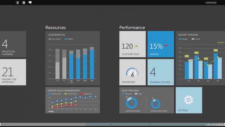 Dynamics ERP data dashboard by Microsoft