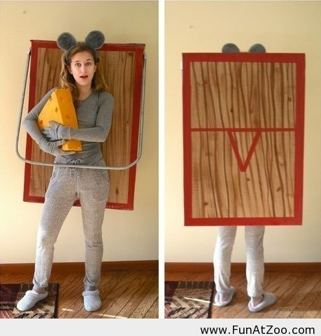 Funny Mouse trap costume for Halloween Funny picture