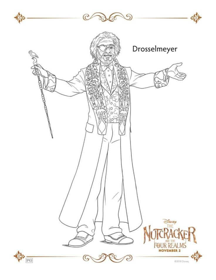 Drosselmeyer Free Printable Coloring Page from Disney\'s The ...
