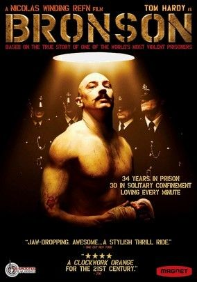 Bronson- Tom Hardy. still in Wakefield Prison :p http://news.sky.com/story/1135311/charles-bronson-supporters-want-him-freed