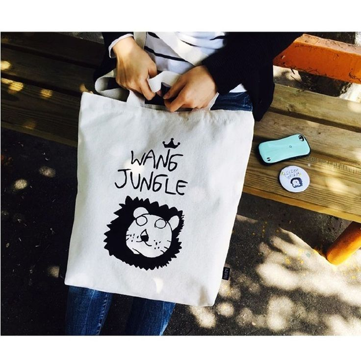 DesignComfics Ecobag-Wangjungle2 Canvas Shoulder Bag #DesignComfics
