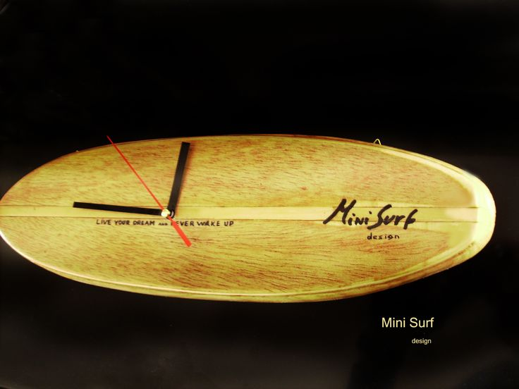 """Surf Clock by Mini Surf Design"" http://minisurf.beepworld.it/"