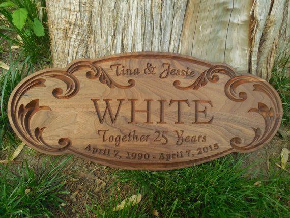 Custom Carved Wood Signs Custom Wooden Name by TopGrainWoodShop