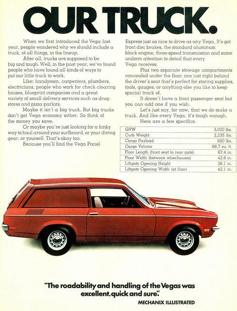 1972 Chevrolet Vega Panel Express Truck