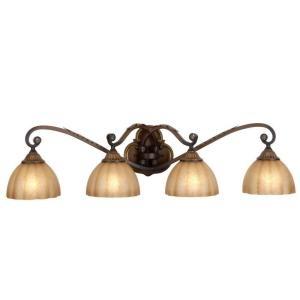 hampton bay chateau deville 4 light deville walnut bath light 139