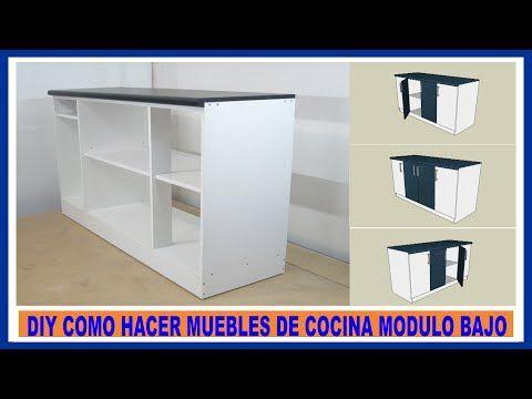 Como hacer muebles de cocina - vídeo como hacer mesada de melamina   Web del Bricolaje Diy diseño y muebles