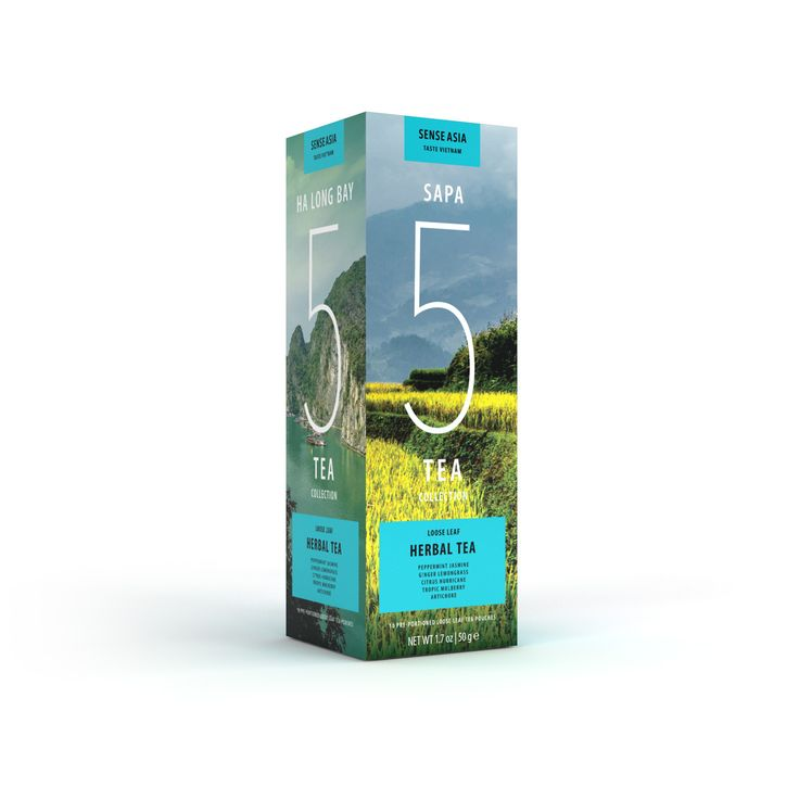 Vietnam Delight 5 herbal teas - with 10 tea pouches inside!!!  #tea #Vietnam #gift #herbal