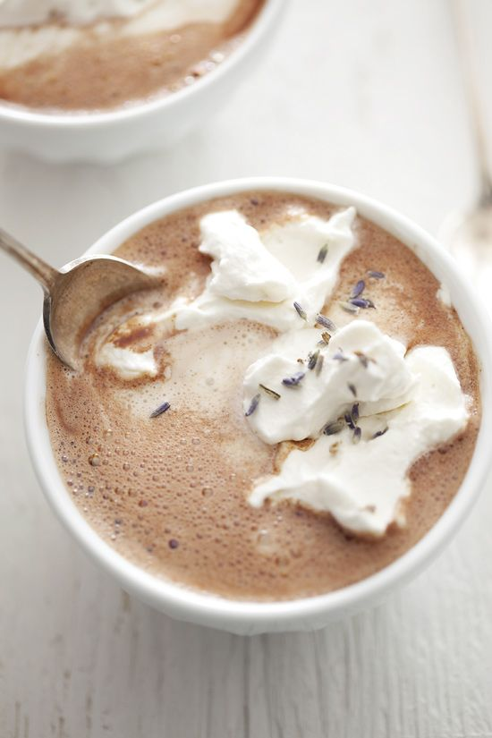 snuggle up with lavender hot chocolate