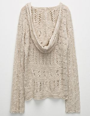 FULL TILT Open Weave Girls Sweater Off White