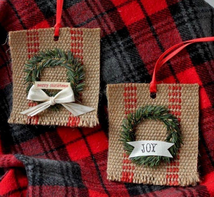 54 Creative DIY Farmhouse Ornaments for Christmas