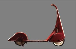 The streamlined motocycle was an icon during the period as it transformed the vehicle from being a masculine form to one that was elegant and luxurious. The sequence of streamlining impacted the way the wheels appeared, the handle and the overall silhouette.