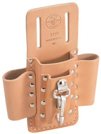 Klein Tools 5119 Leather 4-Pocket Tool Pouch
