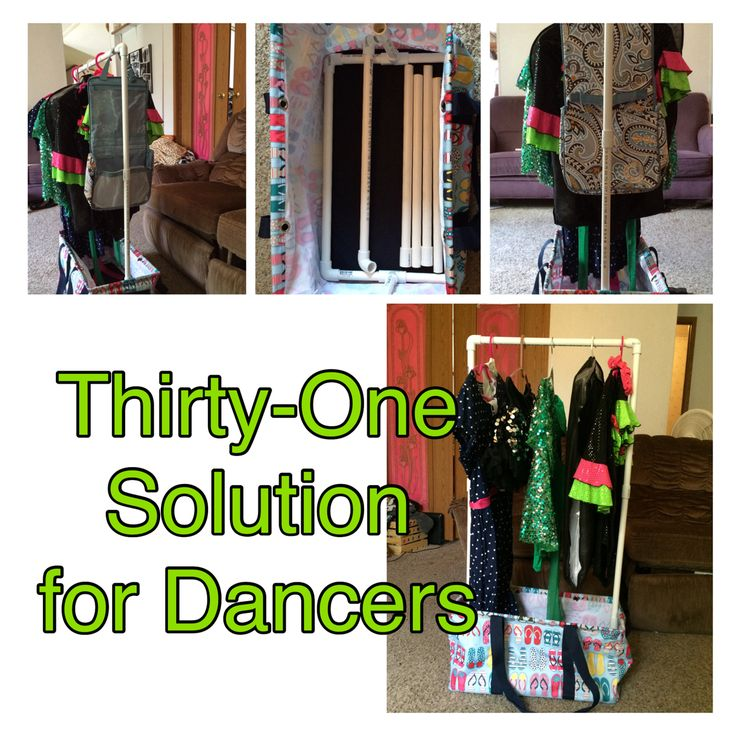 Thirty one deluxe utility tote as a mobile rack for dance Ideas for hanging backpacks