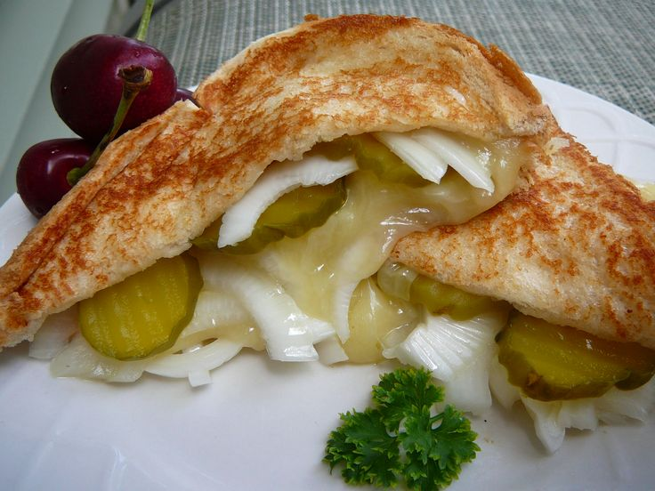 ... outdone yourself | Grilled Cheese, Pickle and Vidalia Onion Sandwich