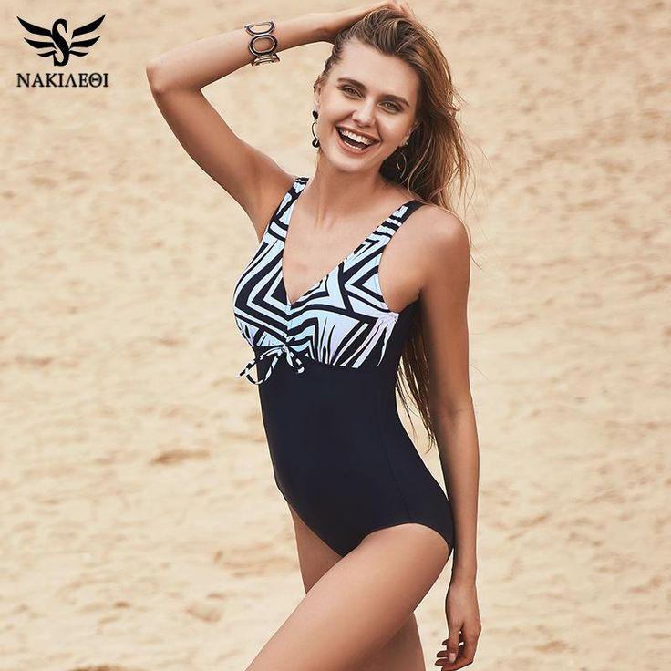 Swimsuit Women Vintage Bathing Suits Plus Size Swimwear 4XL