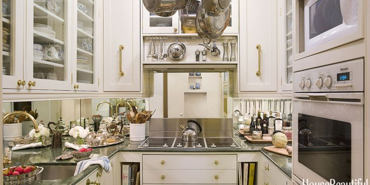 Tiny, yet efficient. To hear about a kitchen no bigger than a walk-in closet is to expect the worst. To actually see this one is to encounter the best. Designer Stephanie Stokes found savvy ways to save space in this big-city kitchen. This article originally appeared on housebeautiful.com. By Regina Schrambling	 From: House Beautiful