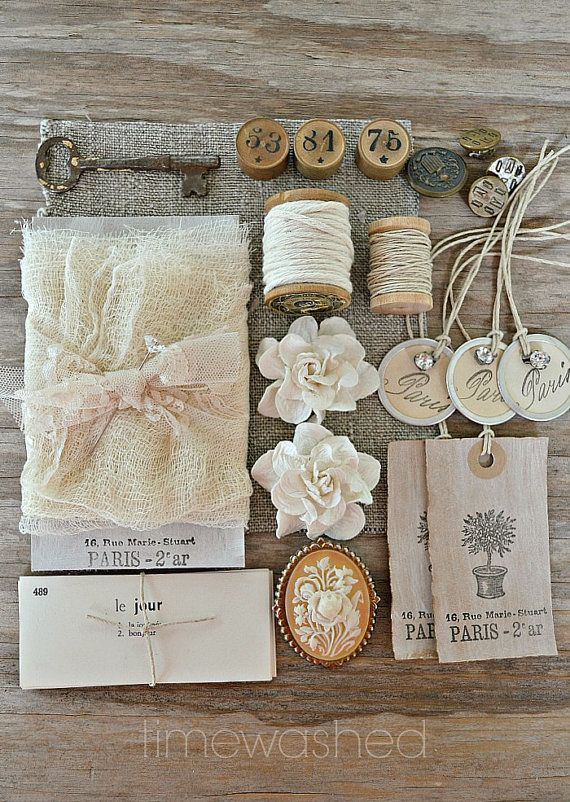 Vintage and Handmade Gift Wrap/Inspiration Kit