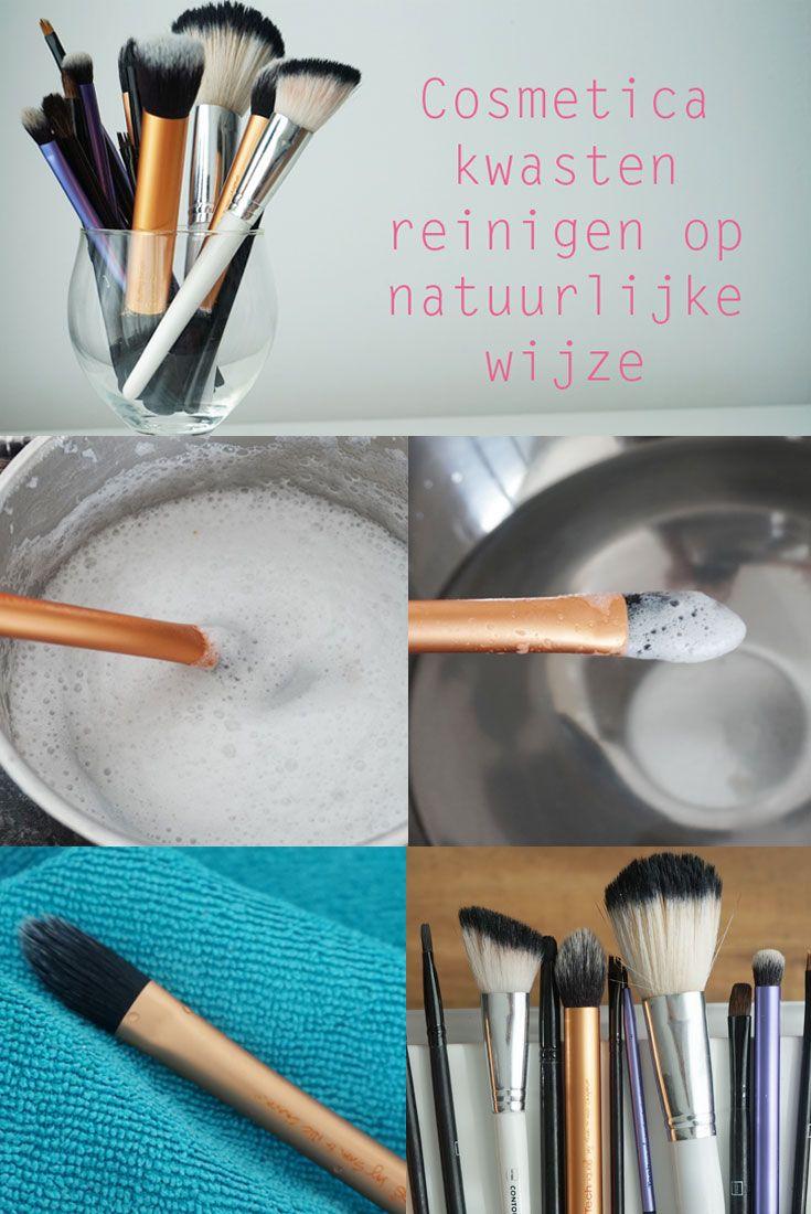 Make-up kwasten reinigen op een natuurlijke, milieuvriendelijke manier met #kokosolie en #drbronners zeep
