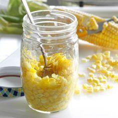 Freezer Sweet Corn Recipe from Taste of Home -- shared by Judy Oudekerk, St. Michael, Minnesota