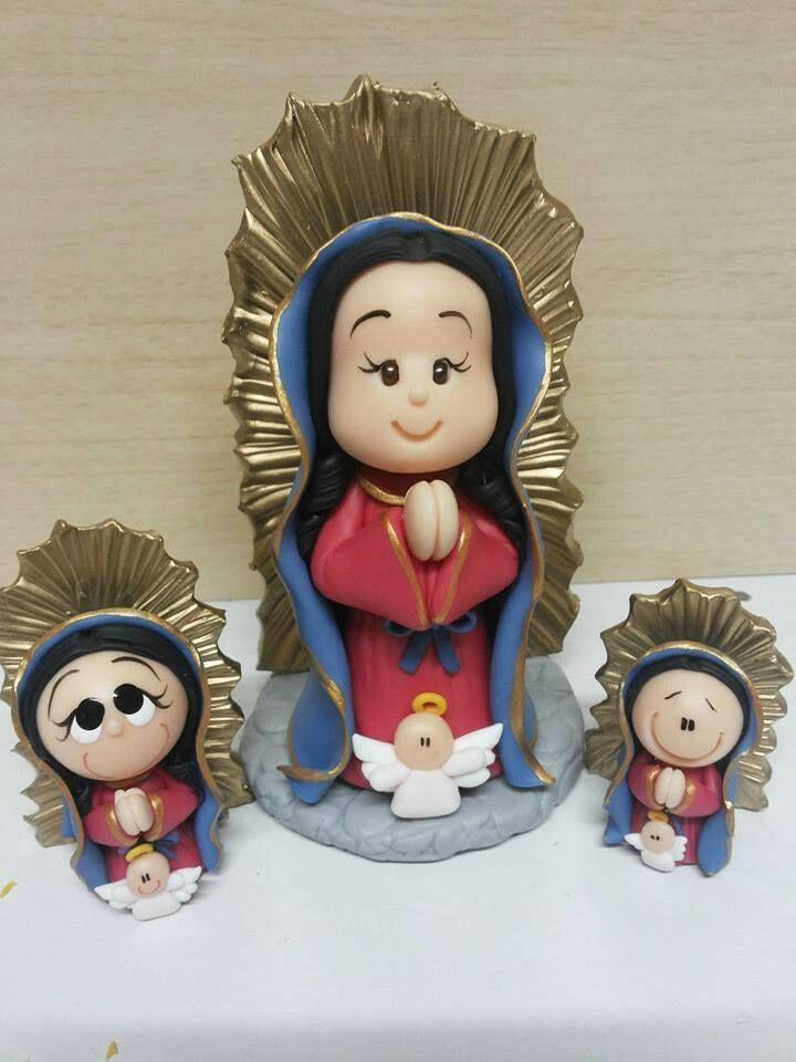 Neste album há vários santos em porcelana fria.