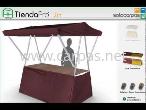 """http://www.carpas.net :: Simulador 3D - Puestos plegables TiendaPro™ :: ¡Montada en 90""""! Estética homogénea de mercados ambulantes"""