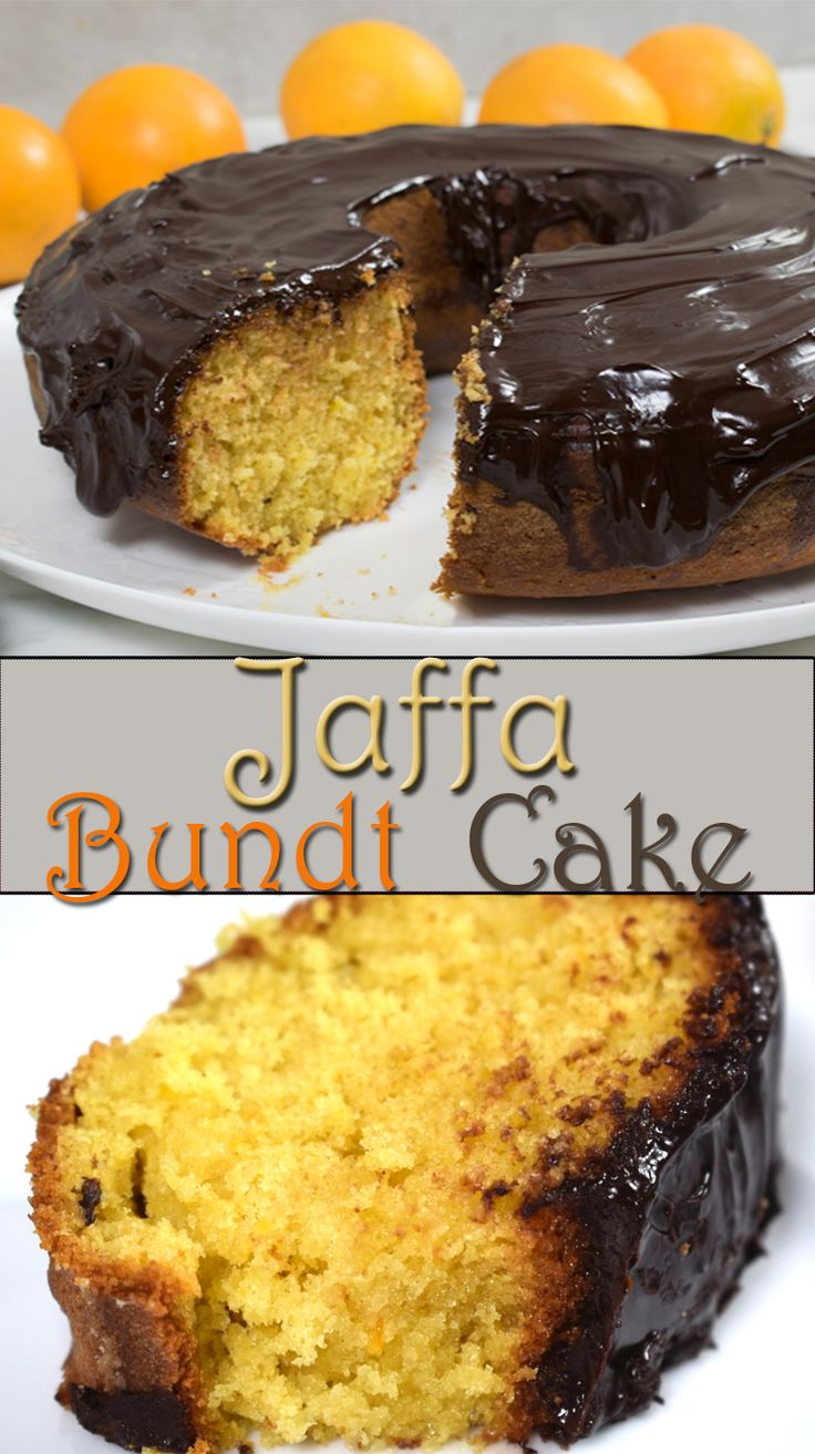 Jaffa Bundt Cake | Chocolate Orange Bundt Cake - This cake combines moist, rich, delicious, orange flavored sponge with rich, thick ganache to make perfect, indulgent dessert.