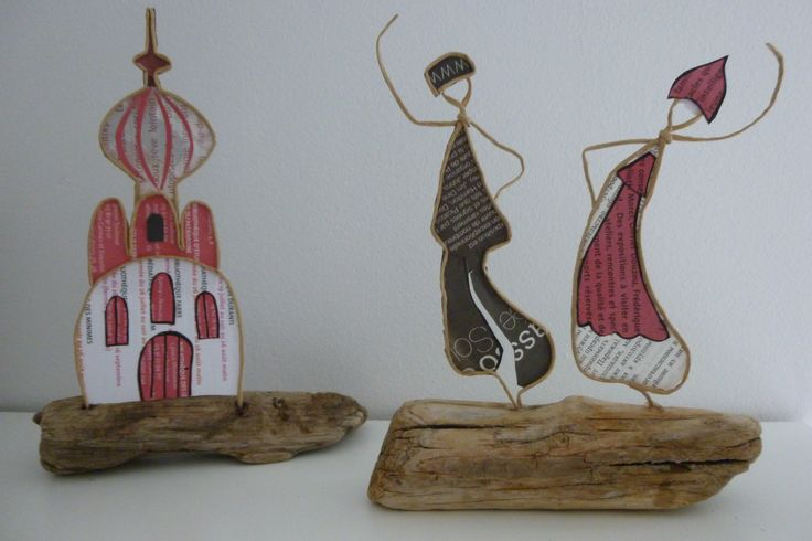 Les danseurs russes - figurines en ficelle et papier