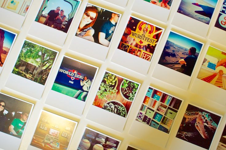 Polaroid Instagram Prints from Persnickety Prints - fit perfectly in 3x4 Project Life sleeves