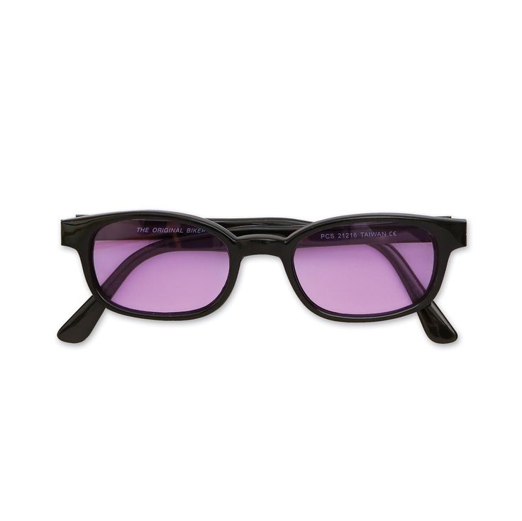 Original KD's Sunglasses-Black Frame with Purple Lens | 140-017 | J&P Cycles