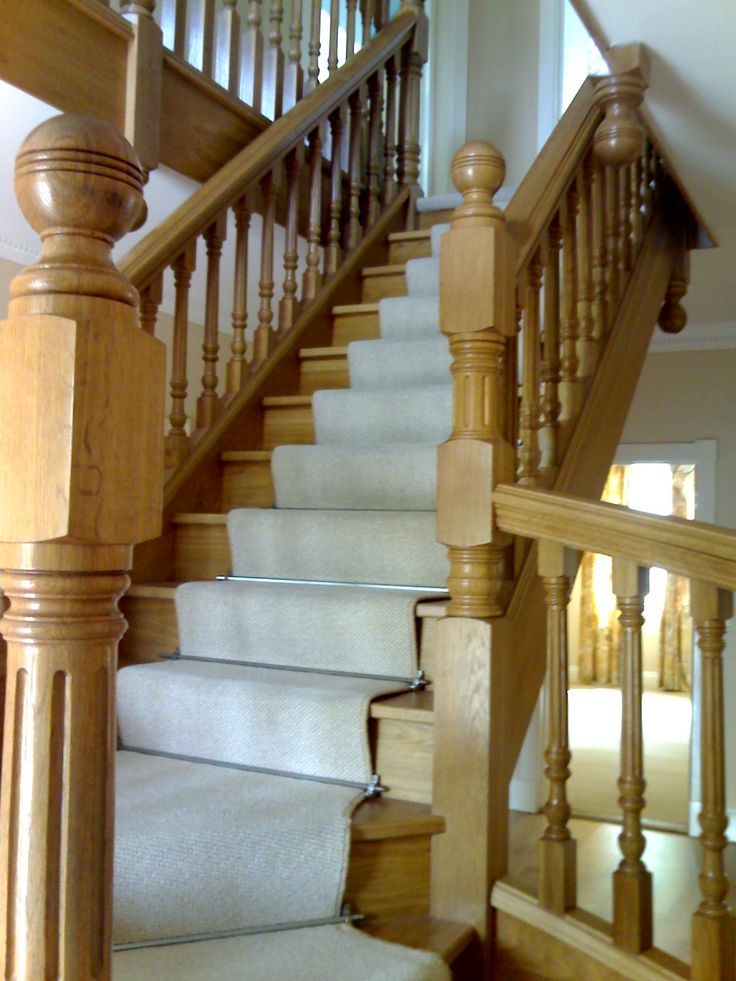 A Lovely open plan staircase cleaned in Bristol. Special care and attention to protect the oak!