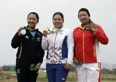 The simple fix for golf that isn't so simple:   August 22, 2016  -    From left to right, silver medalist, Lydia Ko of New Zealand, gold medalist Inbee Park of South Korea, and bronze medalist Shanshan Feng of China, show their medals after the final round of the women's golf event at the 2016 Summer Olympics in Rio de Janeiro, Brazil, Saturday, Aug. 20, 2016. (AP Photo/Chris Carlson)