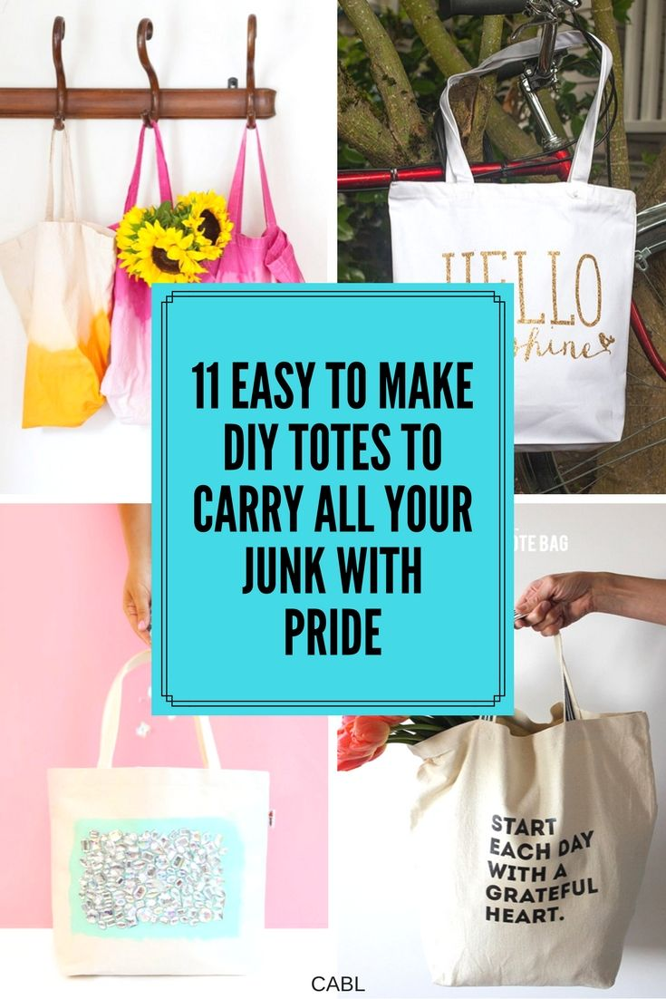 These 11 easy to make totes are just awesome! These are totally doable! Even for a novice like me! I can't wait to make some for me and for gifts! #totes #DIY #gifts #mothersday #craft