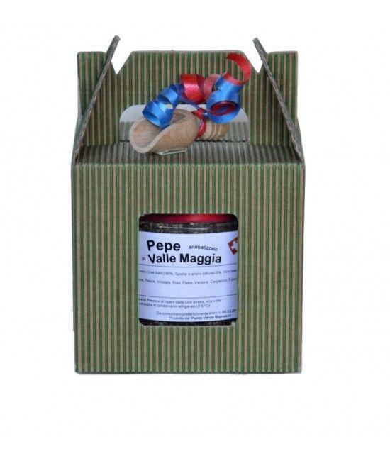 """Geschenkbox """"Pepe aromatizzato in Vallemaggia"""". www.bundishop.ch"""