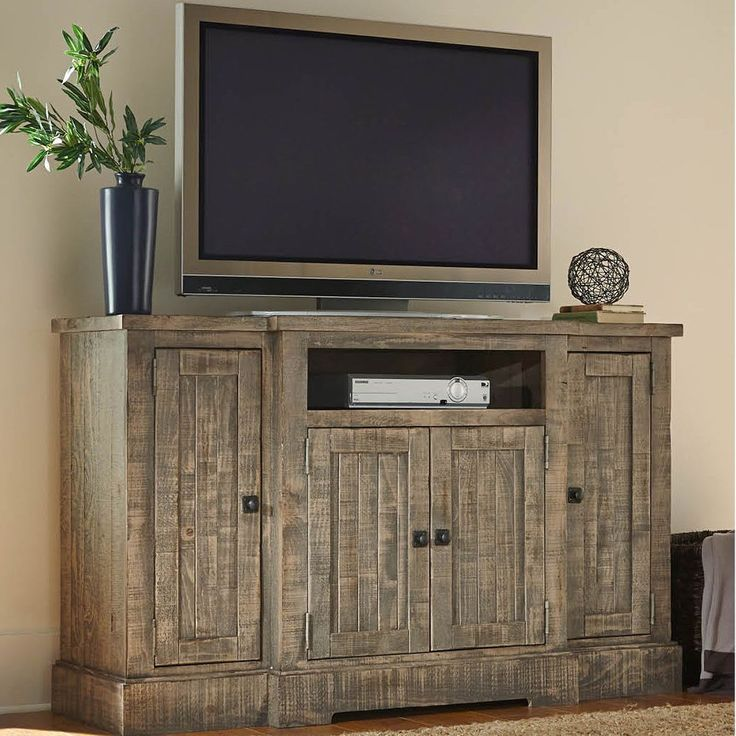 Creatively decorate your decor with this fun Progressive Meadow TV Console. Rustic sophistication with a casual twist is presented in this new entertainment group.