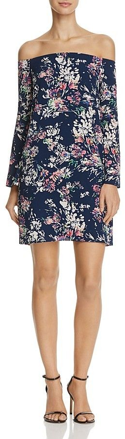 AQUA Floral Off-The-Shoulder Dress - 100% Exclusive