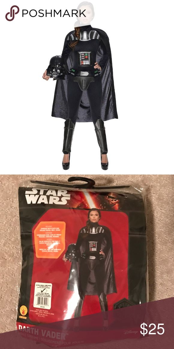 Star Wars Darth Vader Women's Bodysuit Costume Like new, comes in original packaging. Includes costume with cape, belt and mask. Disney Other