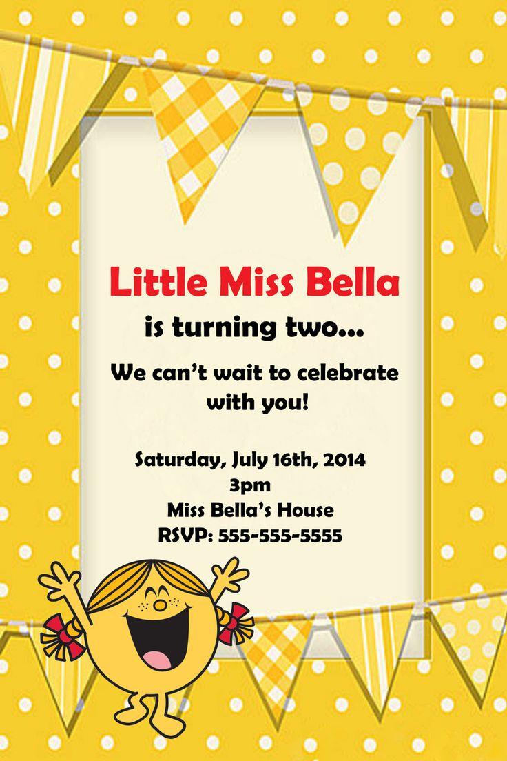 Little Miss Sunshine Birthday Party Invitation - partyexpressinvitations