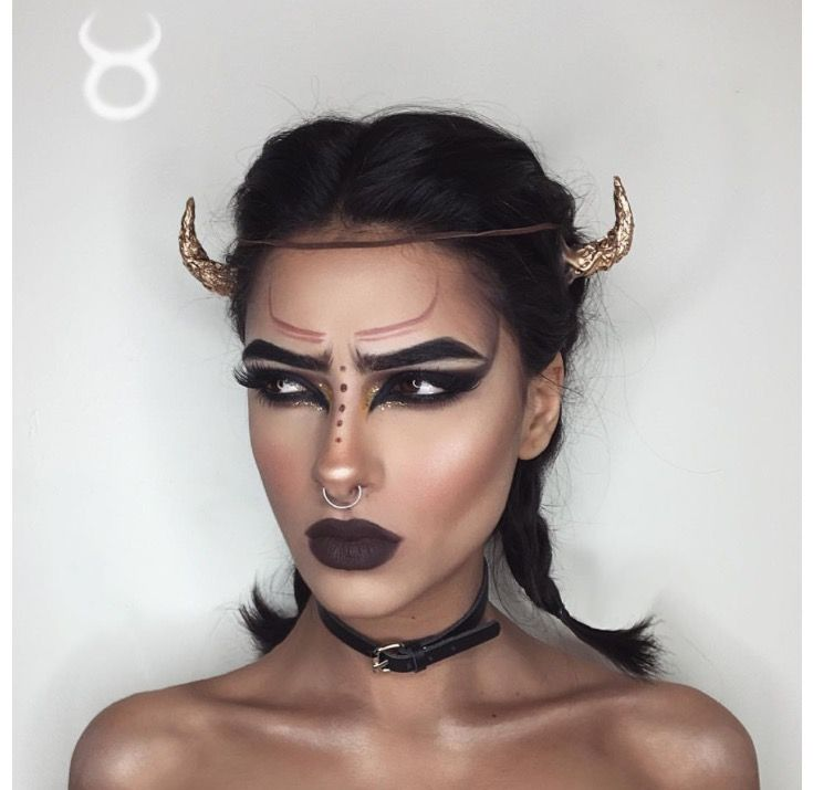 Taurus makeup. Maquiagem Signo de touro