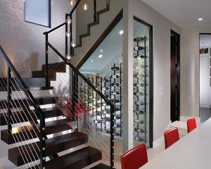 Under Stairs | Case Display | Bottle Rack | Wine Cellar | Custom Design | Home Ideas