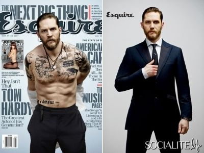 Tom Hardy Gets Shirtless & Buff For Esquire
