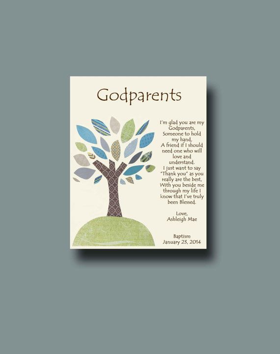 Godparents gift  Personalized gift for Godmother by BoutiqueBlu, $10.00