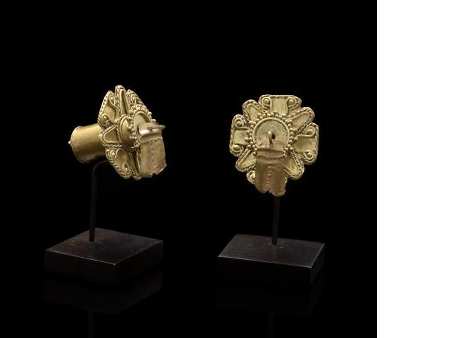 Pair of Tolita-Tumaco  Colombia Ear Flares,ca. A.D. 500 - 1000