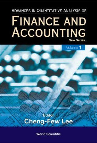 I'm selling Advances in Quantitative Analysis of Finance and Accounting, Vol 1 by Cheng-Few Leeby - $35.00 #onselz