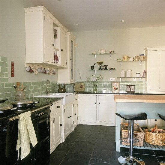 Retro Shaker-style kitchen | Kitchen design | Decorating ideas | housetohome.co.uk Tiles and all!!!