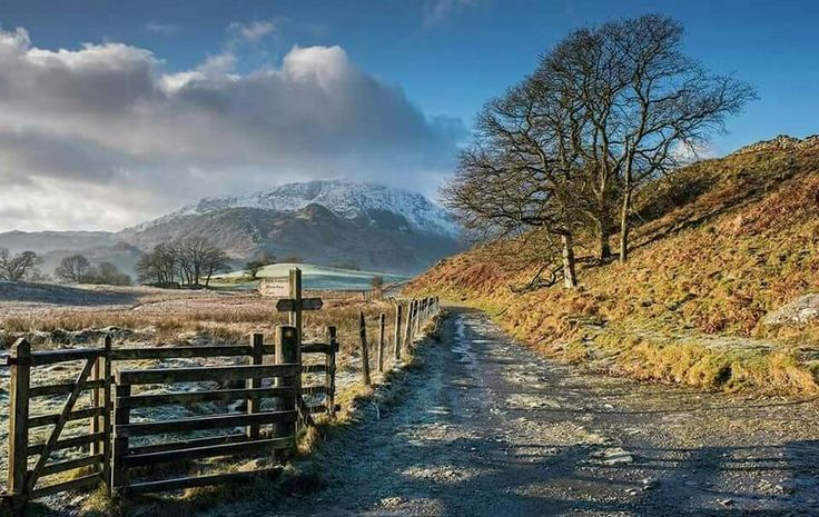A cold December morning, Little Langdale, The Lake District, Cumbria